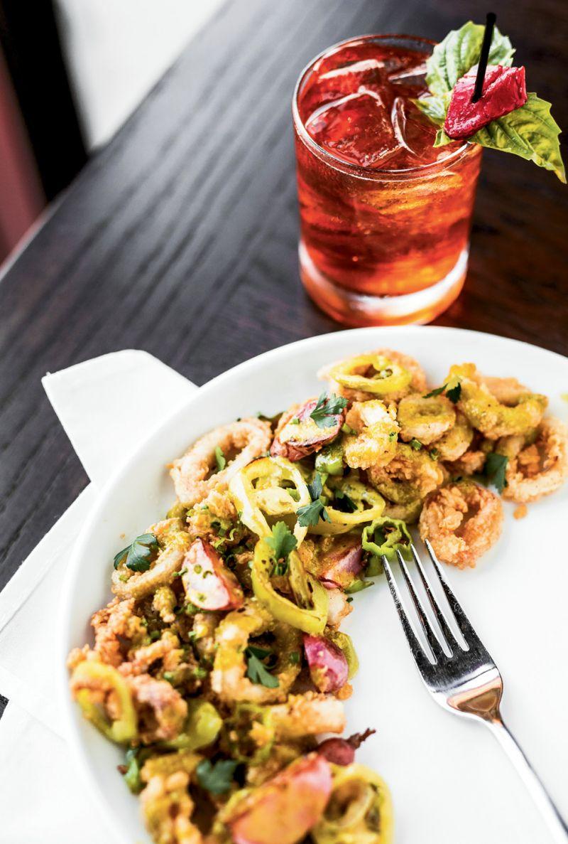 A plate of battered calamari.