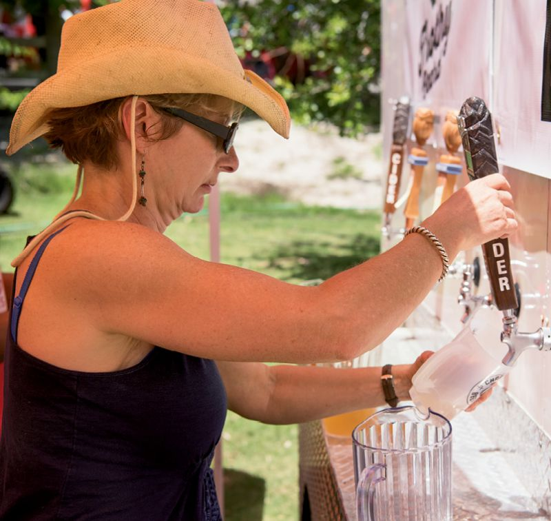Self-serve taps allowed guests to sample different brews  or fill up on their favorites.
