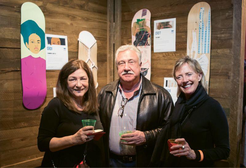 Nancy Rhodes, Dwayne Farrell, and Sharon Barnes