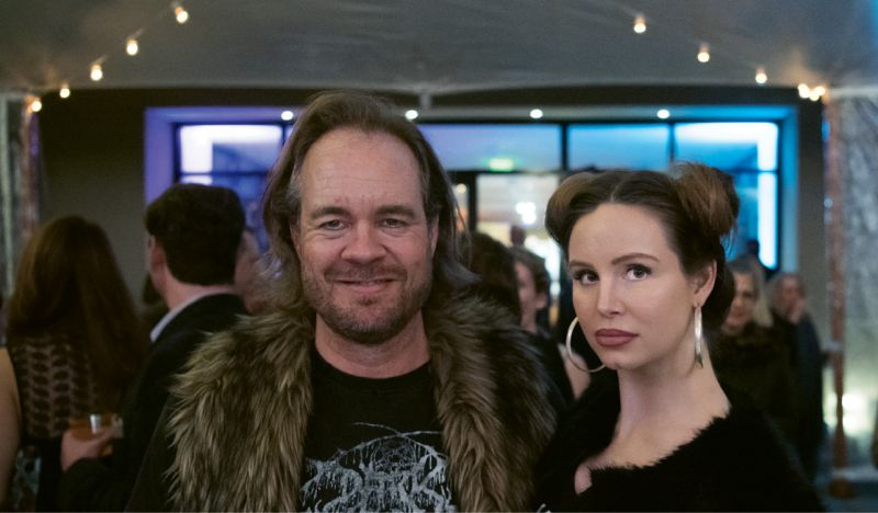 Artist Tim Hussey with his wife, Elise