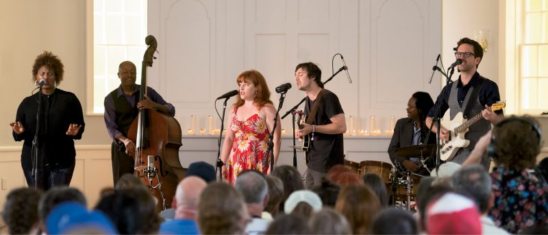 Shovels & Rope gave a private performance alongside Ranky Tanky.