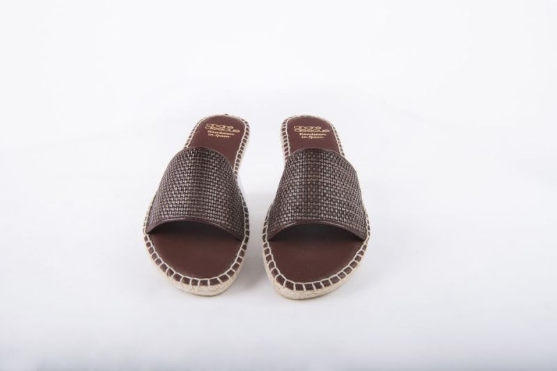 "Andre Assous ""Sindri Woven Pu"" flat espadrille in ""chocolate,"" $129 at Gwynn's of Mount Pleasant"