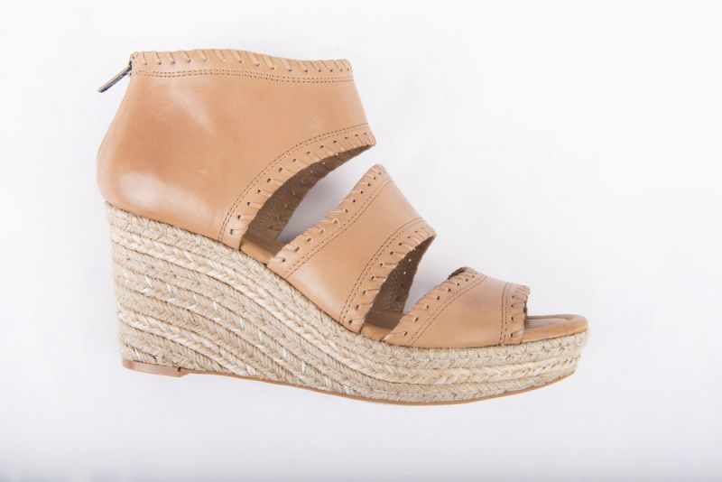 "CC Corso Como ""Joyce"" wedge espadrille in camel brushed leather, $169 at Copper Penny"