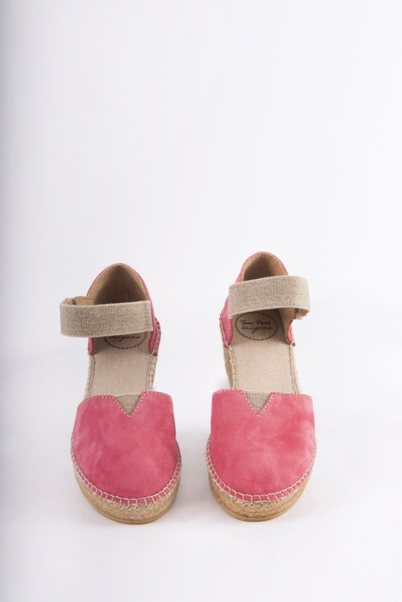 "Toni Pons ""Eibar"" wedge espadrille in Raspberry, $139 at Shoes on King"