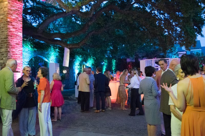 Guests gathered in Bedon's Alley to sip cocktails from the Aviation American Gin bar.