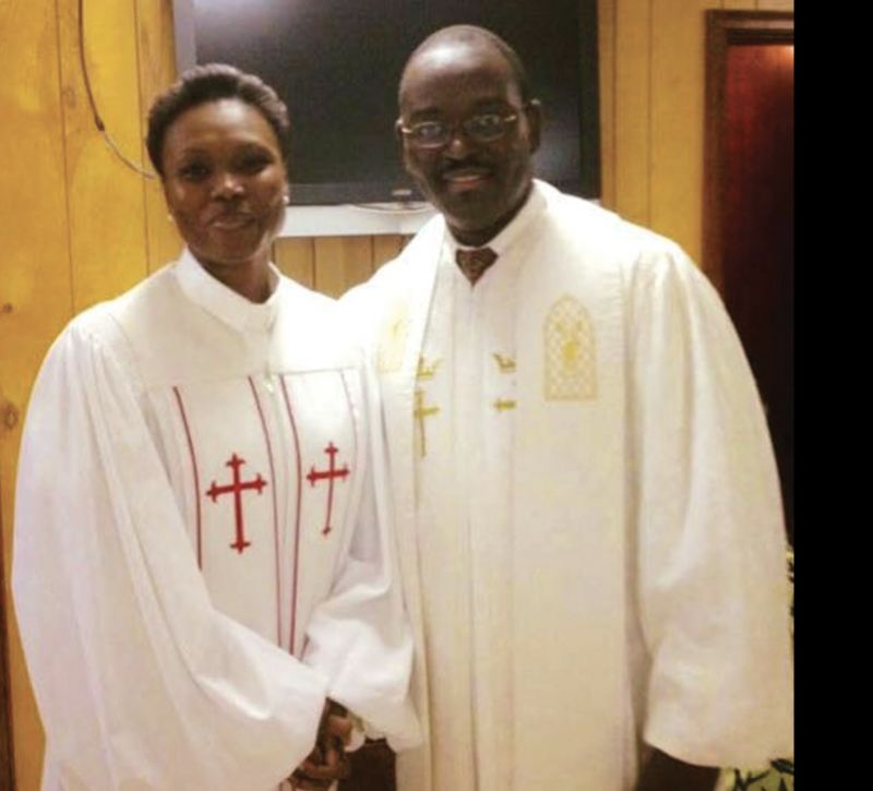 Sharonda with Rev. Clementa Pinckney at Mother Emanuel.