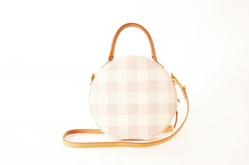 "Mansur Gavriel ""Checker Circle"" crossbody bag in ""coral,"" $695 at Hampden"