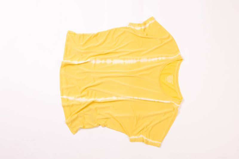 "Majestic Filatures ""Cupro"" short sleeve boxy crew in ""honey,"" price upon request at RTW"