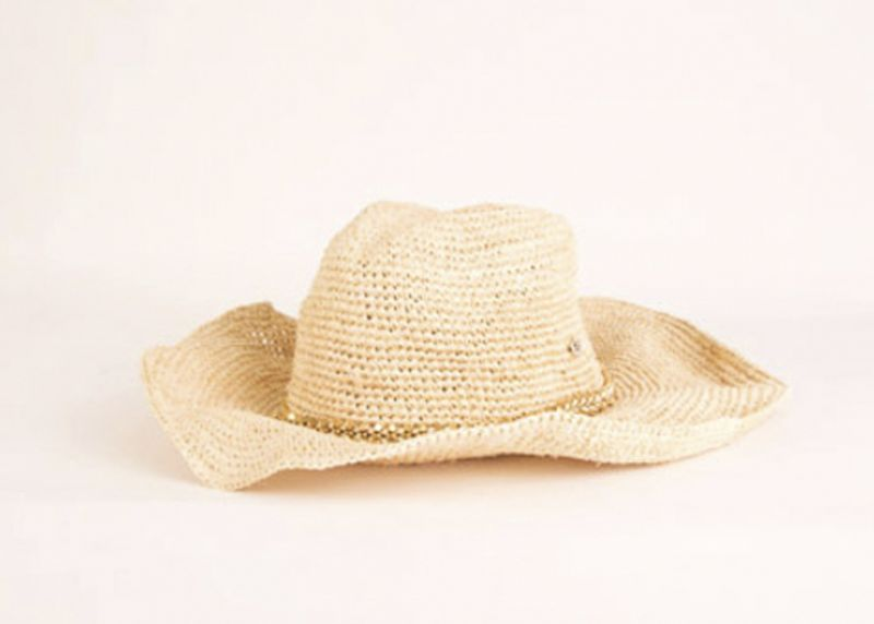 "Flora Bella ""Austin Crochet Cowboy Hat"" in ""almond,"" $148 at Lori Lulu"