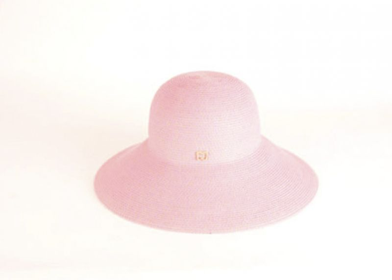 "Eric Javits ""Hampton"" hat in ""pop pink,"" $198 at Gwynn's of Mount Pleasant"