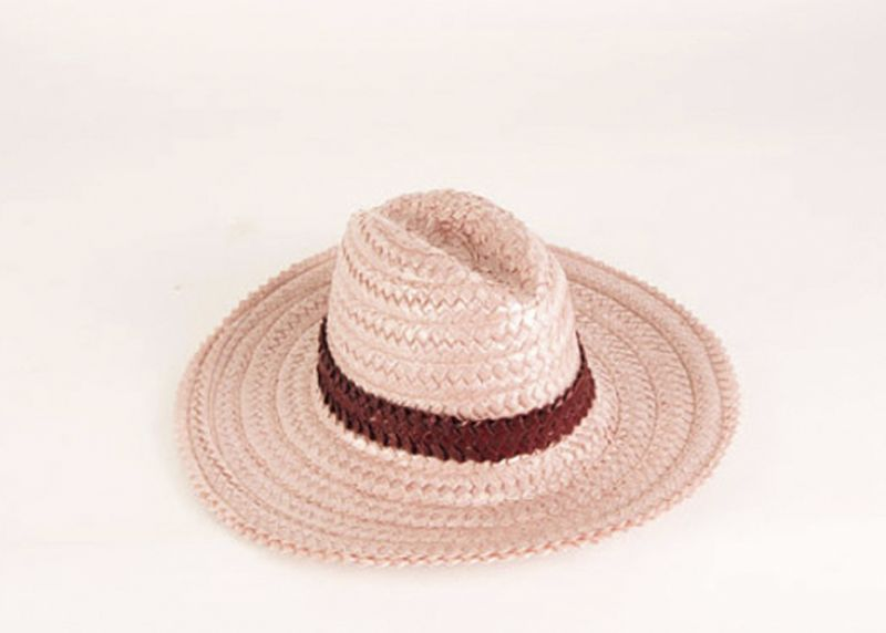 "Gigi Burris ""James"" racello braid fedora in ""blush,"" $395 at Hampden"