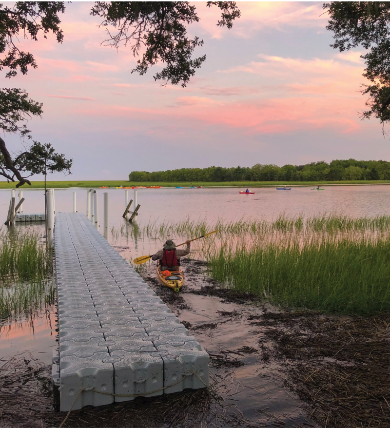 Paddle the Intracoastal Waterway and Awendaw Creek with Nature Adventure Outfi tters and watch the moon rise.