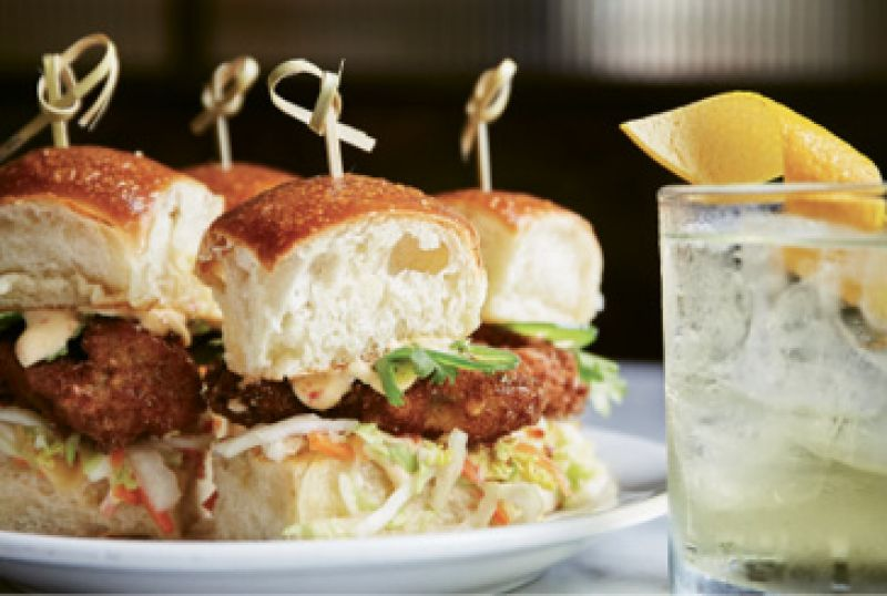 """Small Sammies: """"I love the oyster sliders at The Ordinary, the Tavern Burger at Little Jack's Tavern, and the little happy hour sliders at Edmund's."""" —JM"""