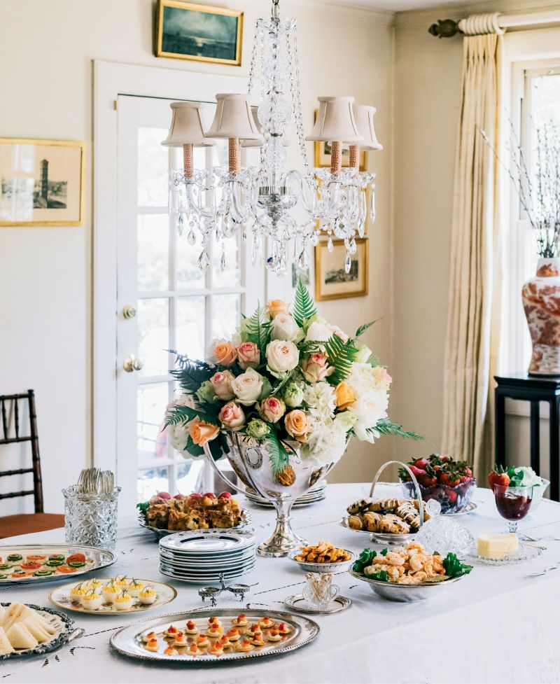 """...such as this """"Breakfast at Wimbledon"""" buffet, at their Old Windermere home."""