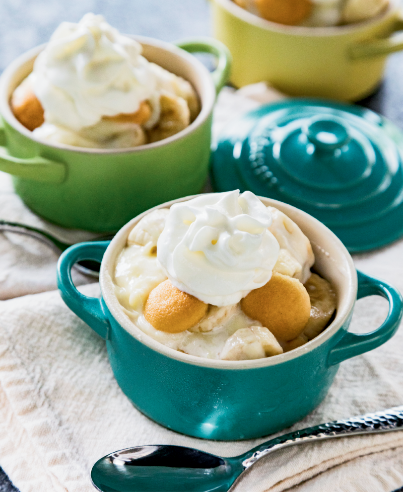 Classic banana pudding tastes like an indulgent dessert, but it's also a sneaky way to add more fresh produce to the meal—there's about one serving of fruit in each portion!