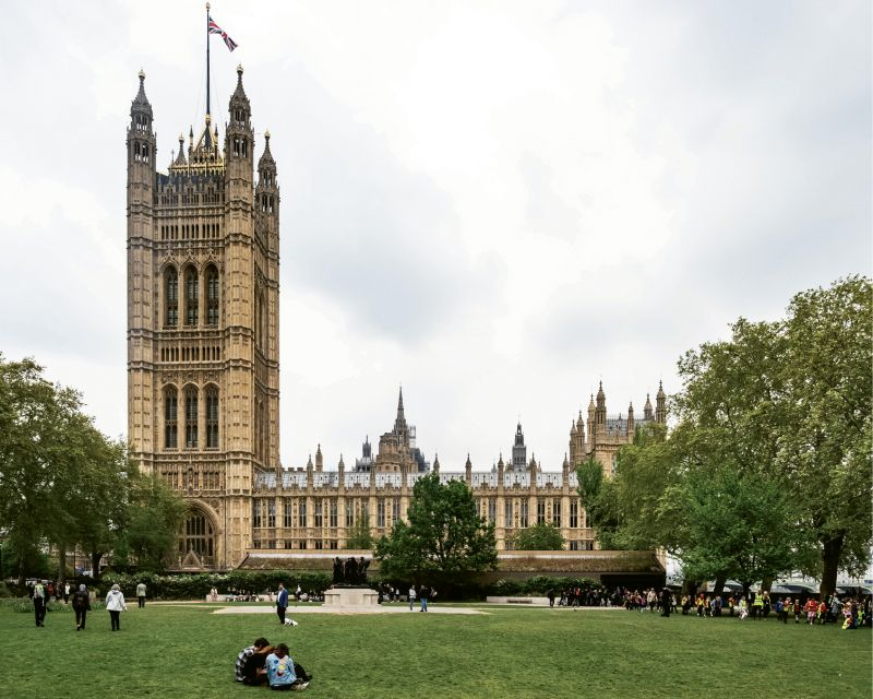 ...and the cathedral-like Palace of Westminster (British Houses of Parliament)