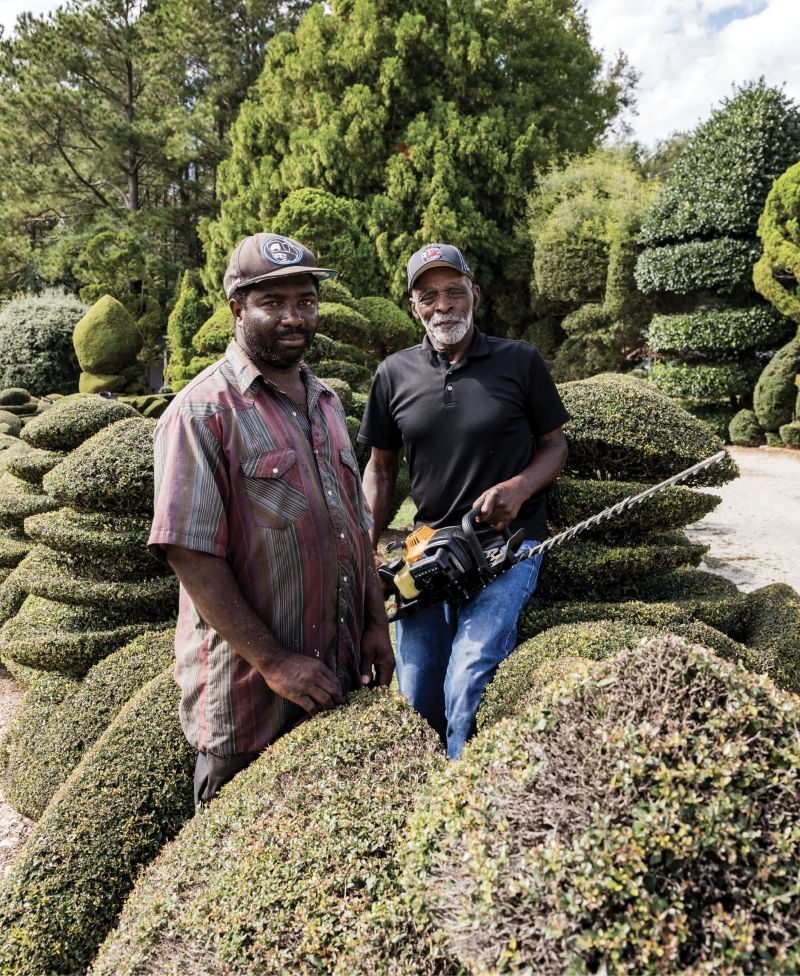 "Helping Hand: ""One thing about life: no matter who you are, one day Old Man Time will slow you down,"" says Fryar, who will turn 80 in December. He's pictured here with his longtime assistant, Michael Baker."