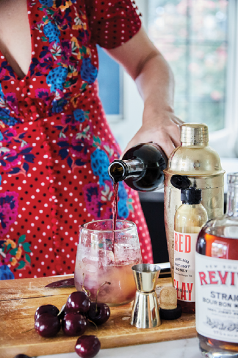 """The """"Hot Yankee"""" cocktail gives a nod to Molly's NYC upbringing."""