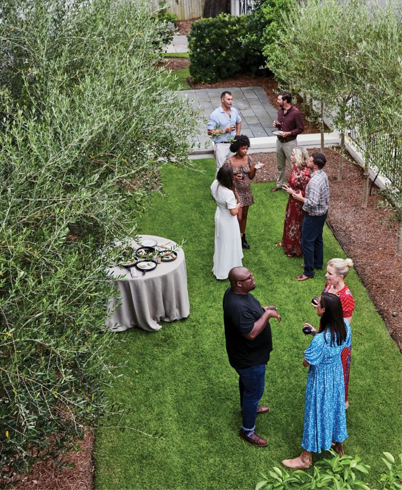As her guests mingle on the lawn, sampling Geoff's newest spice blends, Molly chats with Byrdhouse Public Relations partner Cat Taylor and Black Food Fridays founder KJ Kearney about efforts to lift up Black voices in the local food and beverage community.