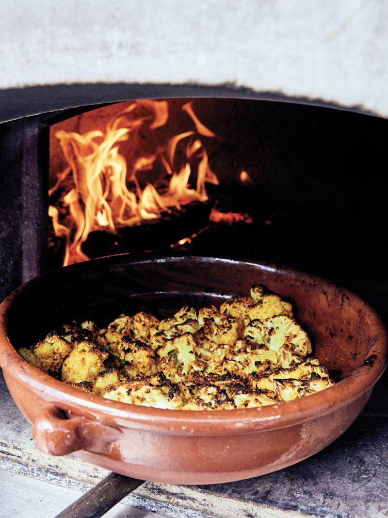 Cauliflower, spiced and roasted
