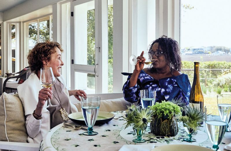 Though their sons have been friends for more than a decade, Callie and Grace met for the first time this spring, when Grace traveled from Cincinnati to visit Femi and the wine shop.