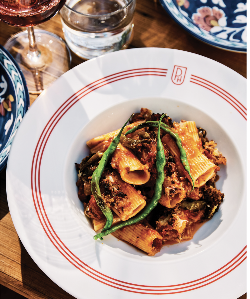 The Post House's Baked Rigatoni with Sunday Sauce