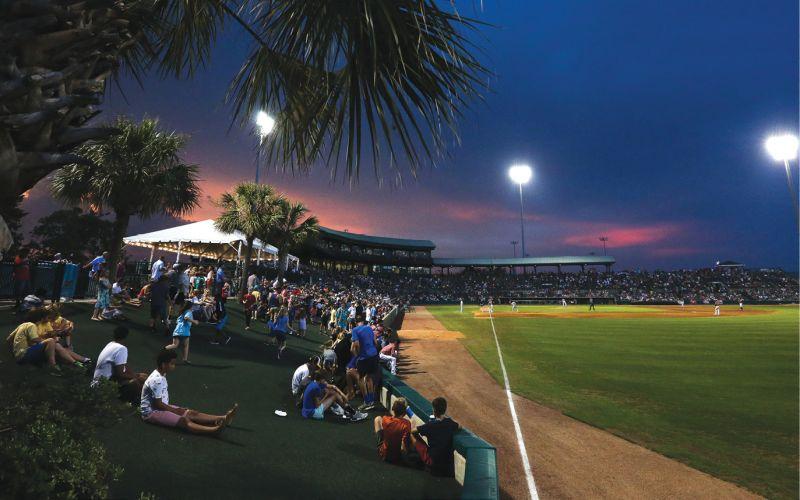 A Charleston RiverDogs home game at The Joe.