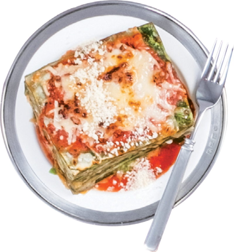 Celia's ethereal, 25-layer lasagna