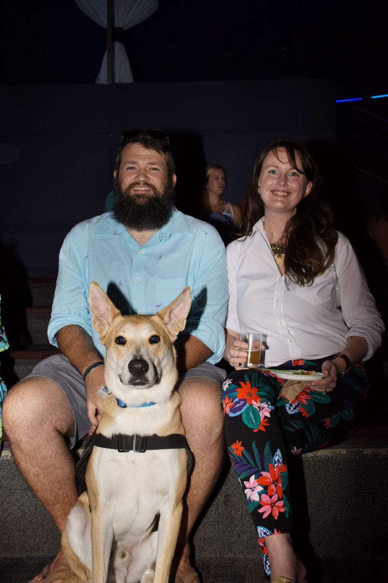 Zeb and Maggie Lott with pup Tanner