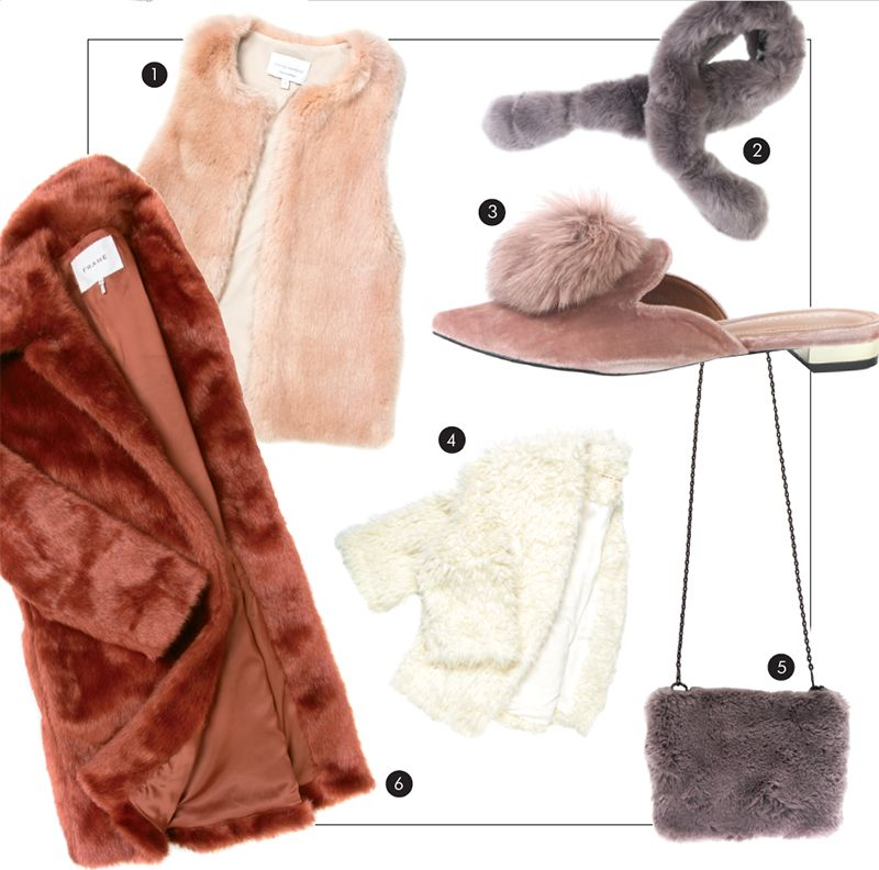 "e86eae33f0d Viktoria   Woods ""Sterling"" faux-fur vest in ""blush"