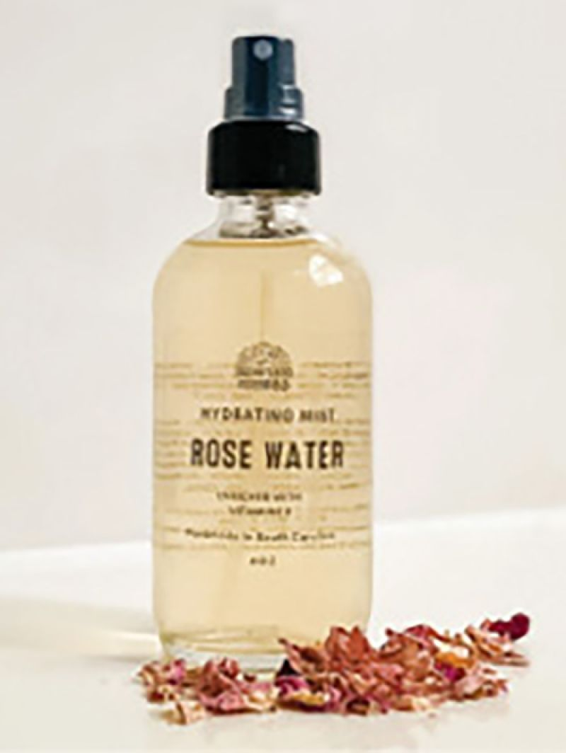 """Mom Care: """"My rosewater hydrating body spray from Motherland Essentials. It smells great, and I love supporting another local business."""" —Chasity"""