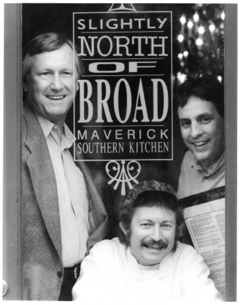 Maverick Southern Kitchen partners Dick Elliot, Frank Lee, and David Marconi in the mid-'90s
