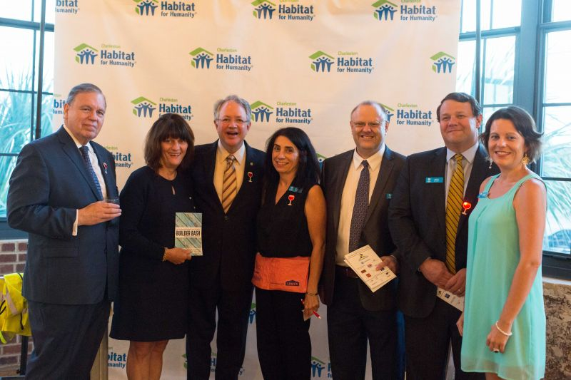 Guests enjoyed posing with props in front of Habitat for Humanity set