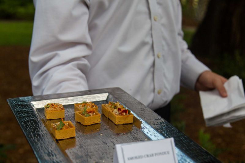 Passed hors d'oeuvres created by Chef Digby Stridiron