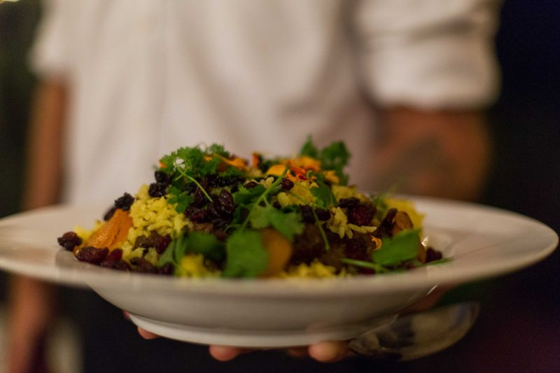 For the fourth course, attendees enjoyed a savory beef biryani