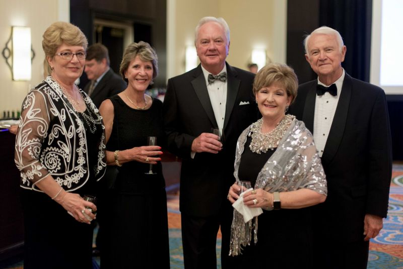Sue Stevens, Claudia and Carey Budds, Deb Hargrove, and Charles Truluck