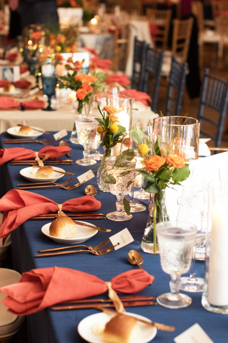 Tables were beautifully set for the meal, catered by the team at Mercantile and Mash.