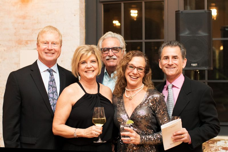 Chuck and Cindy Hughes, Everett Presson, Carolyn and Dr. Bruce Leonard