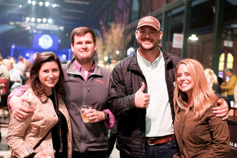 Chad and Michaele Frampton with Lindsay and Stephen Jackson
