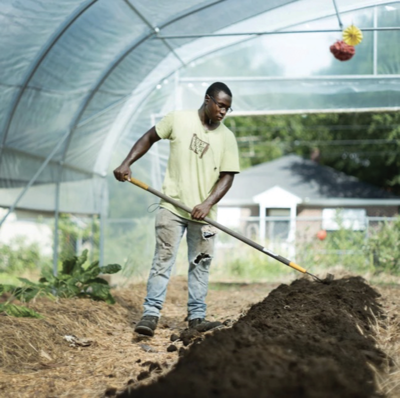 Farm manager Adrian Mack Jr.