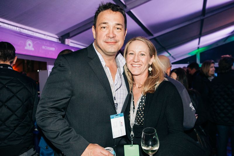 The Indigo Road's Steve Palmer and Charleston magazine editor-in-chief Darcy Shankland