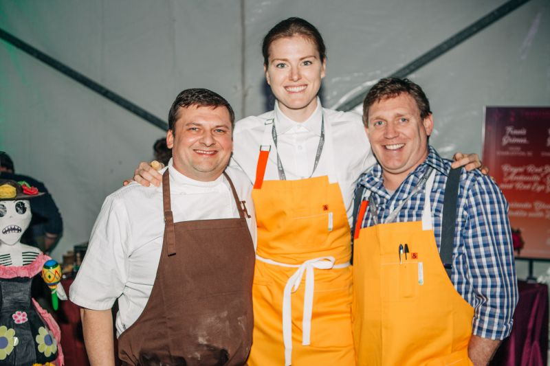 Travis Grimes of Husk, Katy Keefe of McCrady's, and Wesley Grubbs of Minero