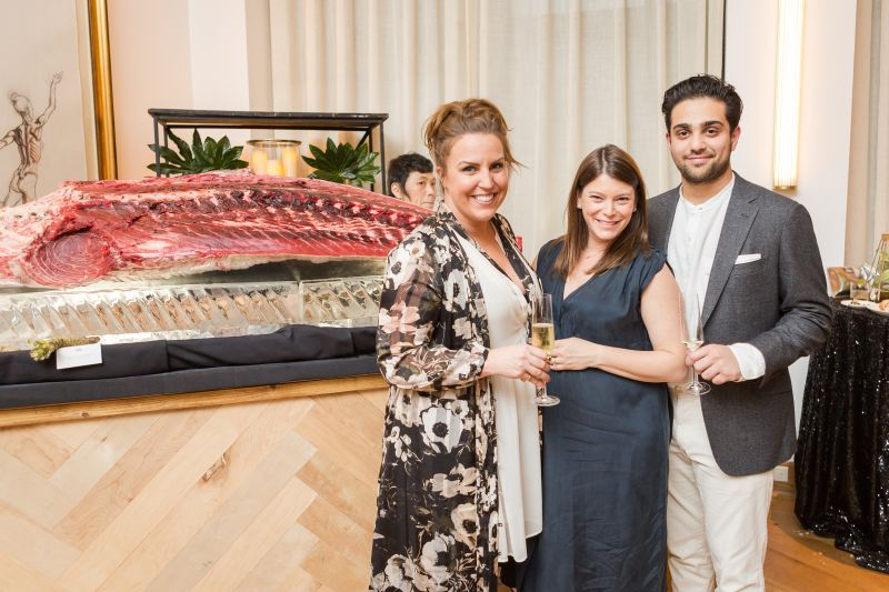 Party hosts Williams Sonoma PR Director Kendall Coleman, Top Chef's Gail Simmons, and Regalis Food's Ian Purkayastha