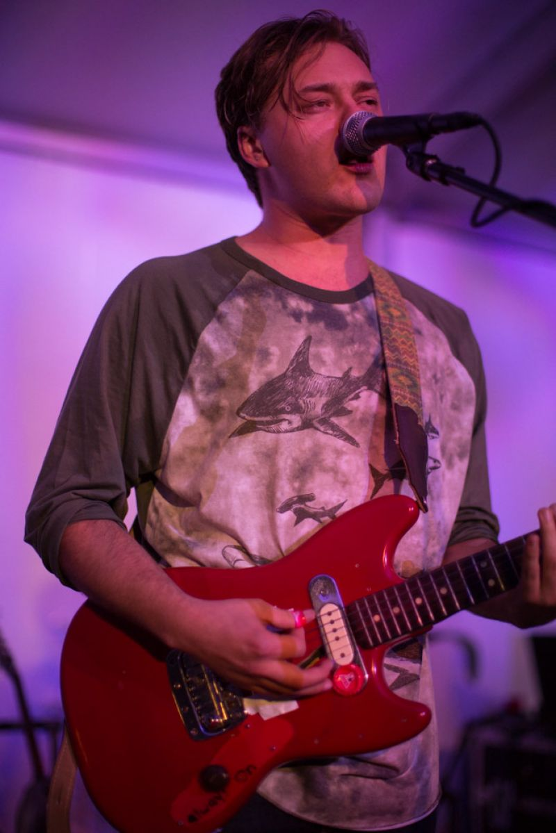 Singer-songwriter Parker Millsap and his band provided lively entertainment in the main tent.
