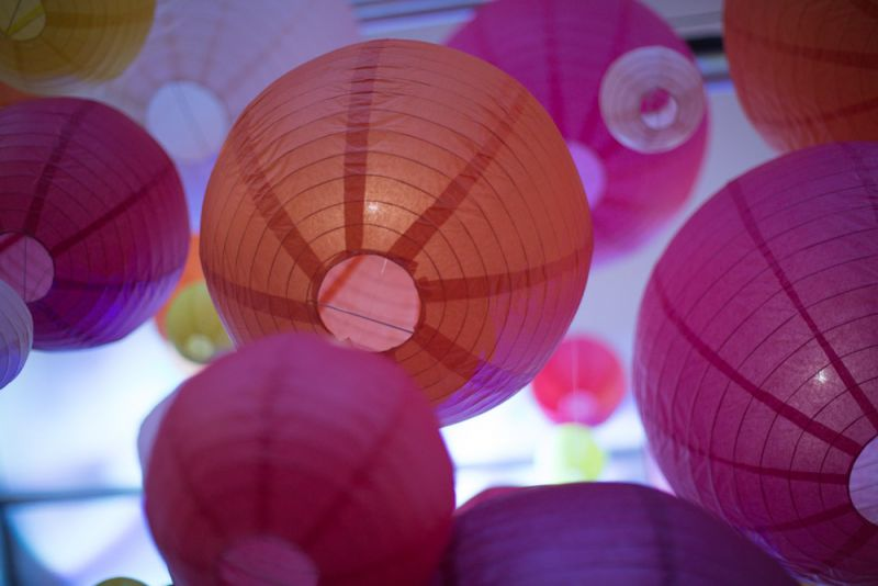 The Culinary Village tents were transformed with paper lanterns and colored lighting.