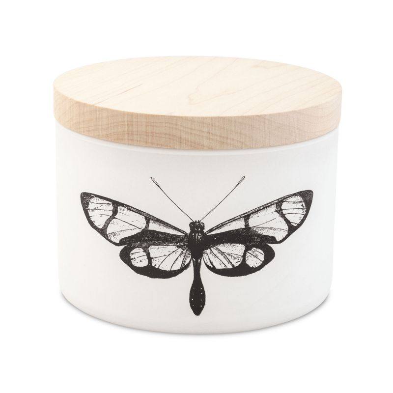 """Abide A While citronella candle available in """"Eucalyptus, Blossom, or Sea Salt,"""" $49 at Abide A While"""