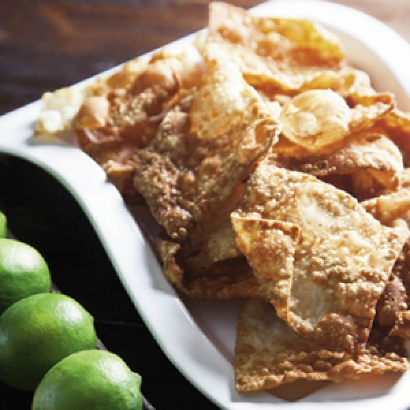How To Make Fried Wonton Crisps Best Recipe Charleston