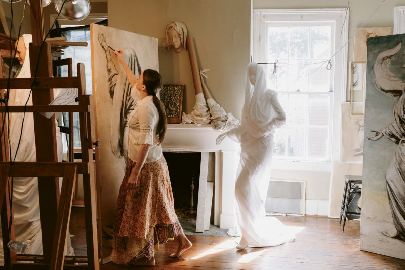 "Scaling Up: ""My teacher Charles Cecil would say, 'life-size is more lifelike,' says Hooper. She's testing that theory out on five new works for this fall's Gibbes Museum of Art show."