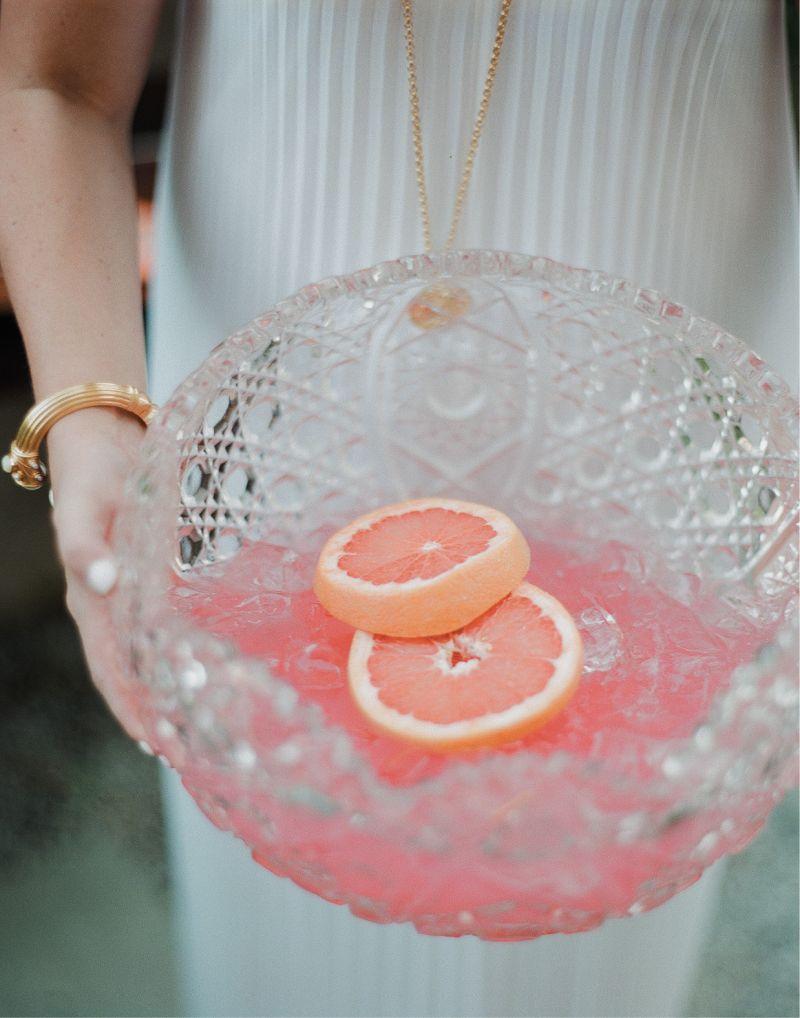 Cru Catering's grapefruit and elderflower punch