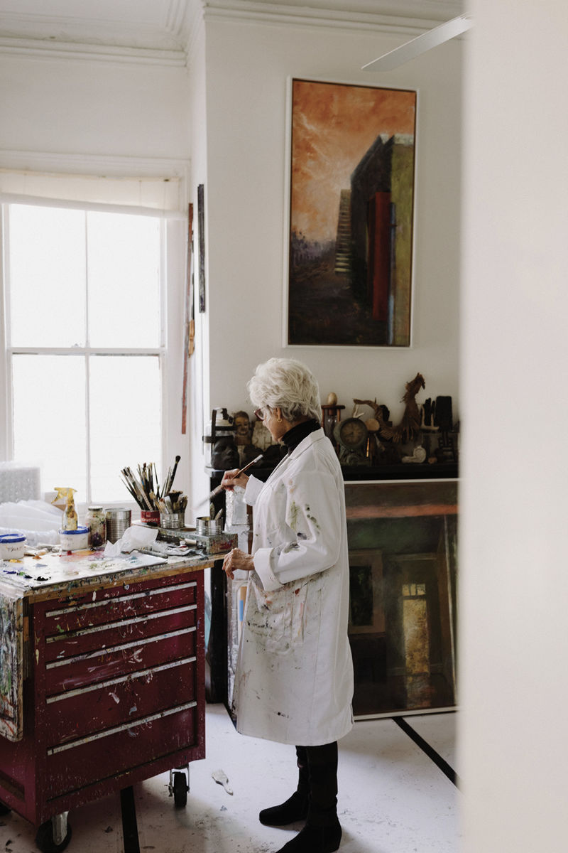 Beauty in Ruin: Fantuzzo at work in her light-filled studio